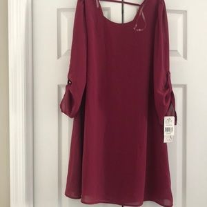 Burgundy Dress *NEW WITH TAGS*
